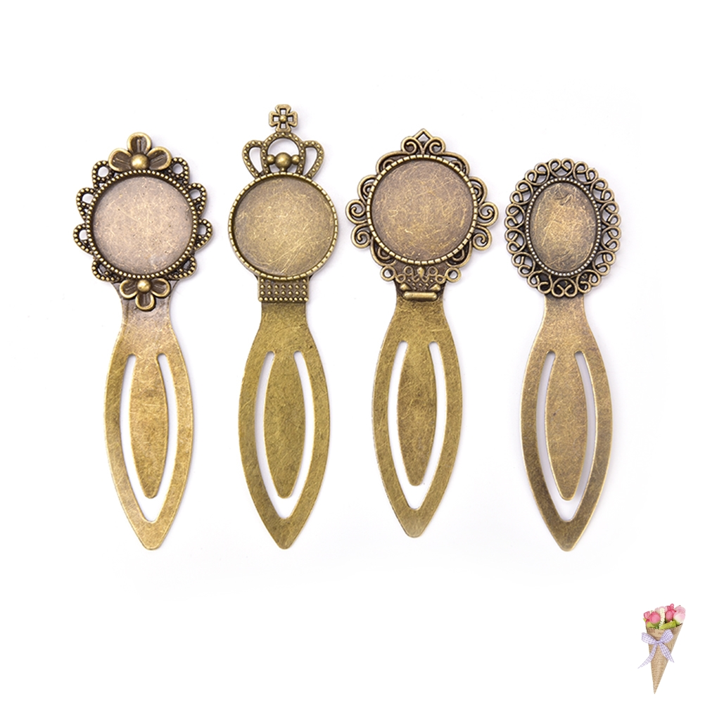20MM Inner Size Antique Bronze Plated Vintage Style Diy Bookmark Cabochon Base Cameo Setting