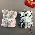 Animal de la historieta de Alta calidad manta de bebé recién nacido swaddle abrigo del bebé Super Suave siesta manta de recepción