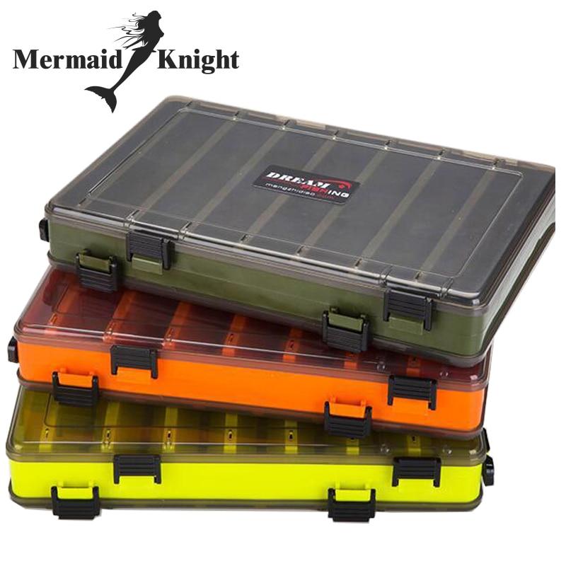 Scatola di Richiamo di pesca Double Sided Tackle Box Fishing Lure Egi Squid Jig Pesca Scatola Degli Accessori Minnows Esche Da Pesca Affrontare Container