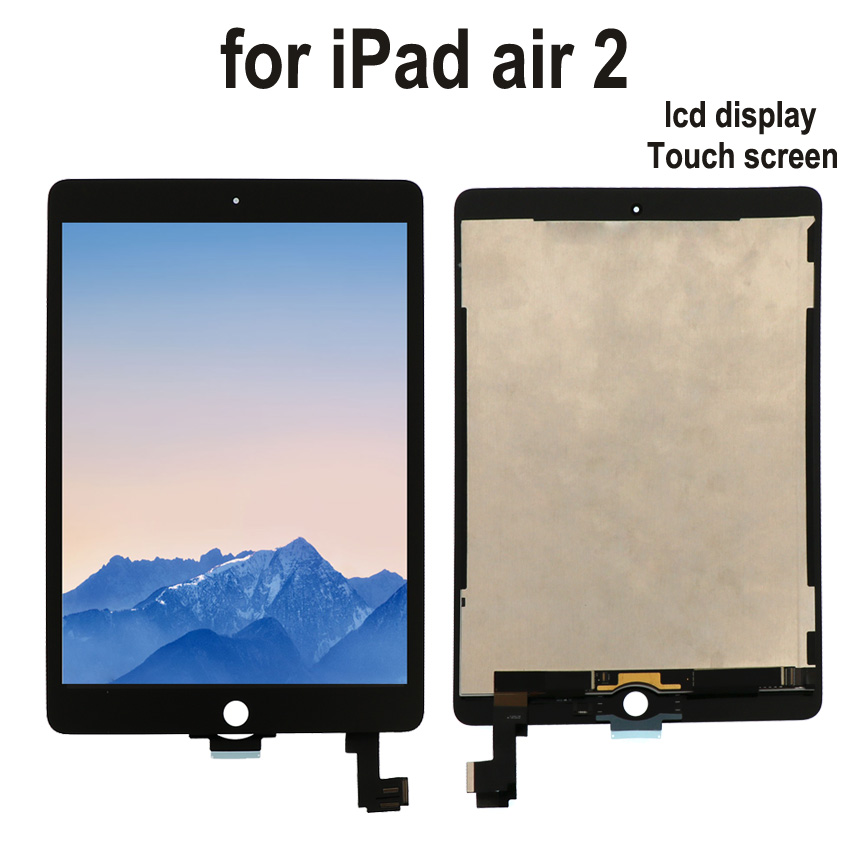 9.7 For Apple Ipad Air 2 Lcd Display With Touch panel Screen Digitizer Panel Assembly Complete for ipad 6 lcd screen with Tools black grade a lcd display touch digitizer complete screen with frame full assembly replacement for iphone 6 6s iphone 6 6s plu