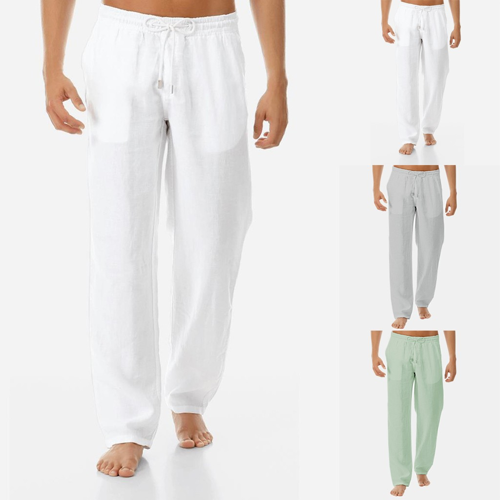 Casual Harem Men's Pants  Fitness Joggers Male Solid Elastic Waist Straight Loose Pants 2019 Summer Overalls 3XL L0508