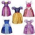 Sofia Cenicienta Blancanieves Rapunzel Belle Princesa Vestido de la Muchacha niños vestidos de fiesta Vestido de Navidad del Traje de cosplay