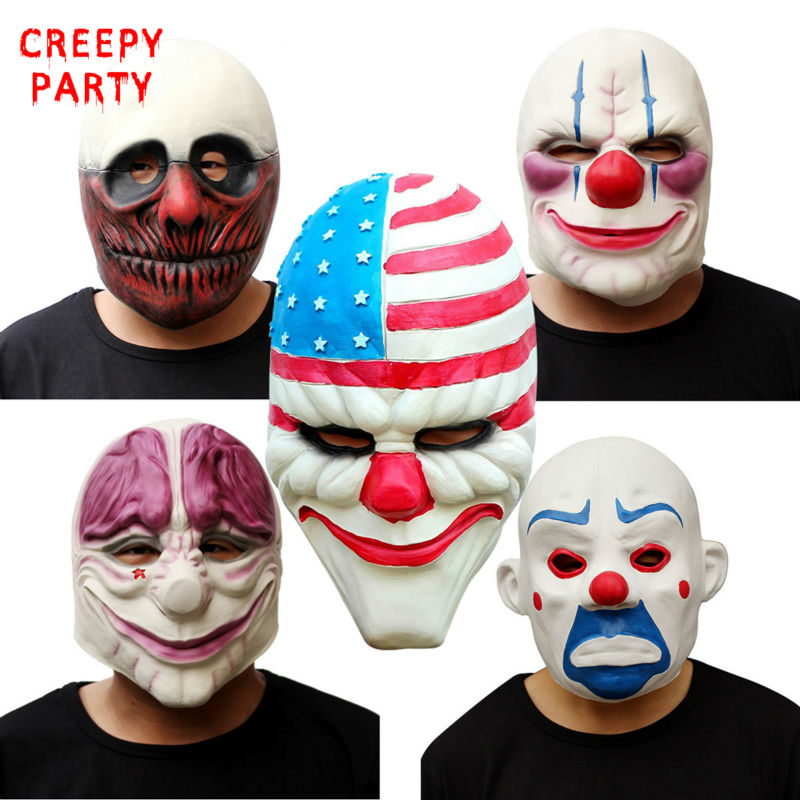 Horror Betaaldag 2 Masker Realistische Spelserie Latexmasker - Feestversiering en feestartikelen - Foto 2