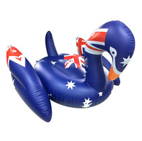 190cm American Flag Giant Swan Pool Float Ride On Inflatable Tube Air Mattress Swimming Ring Adult Summer Water Party Fun Toys