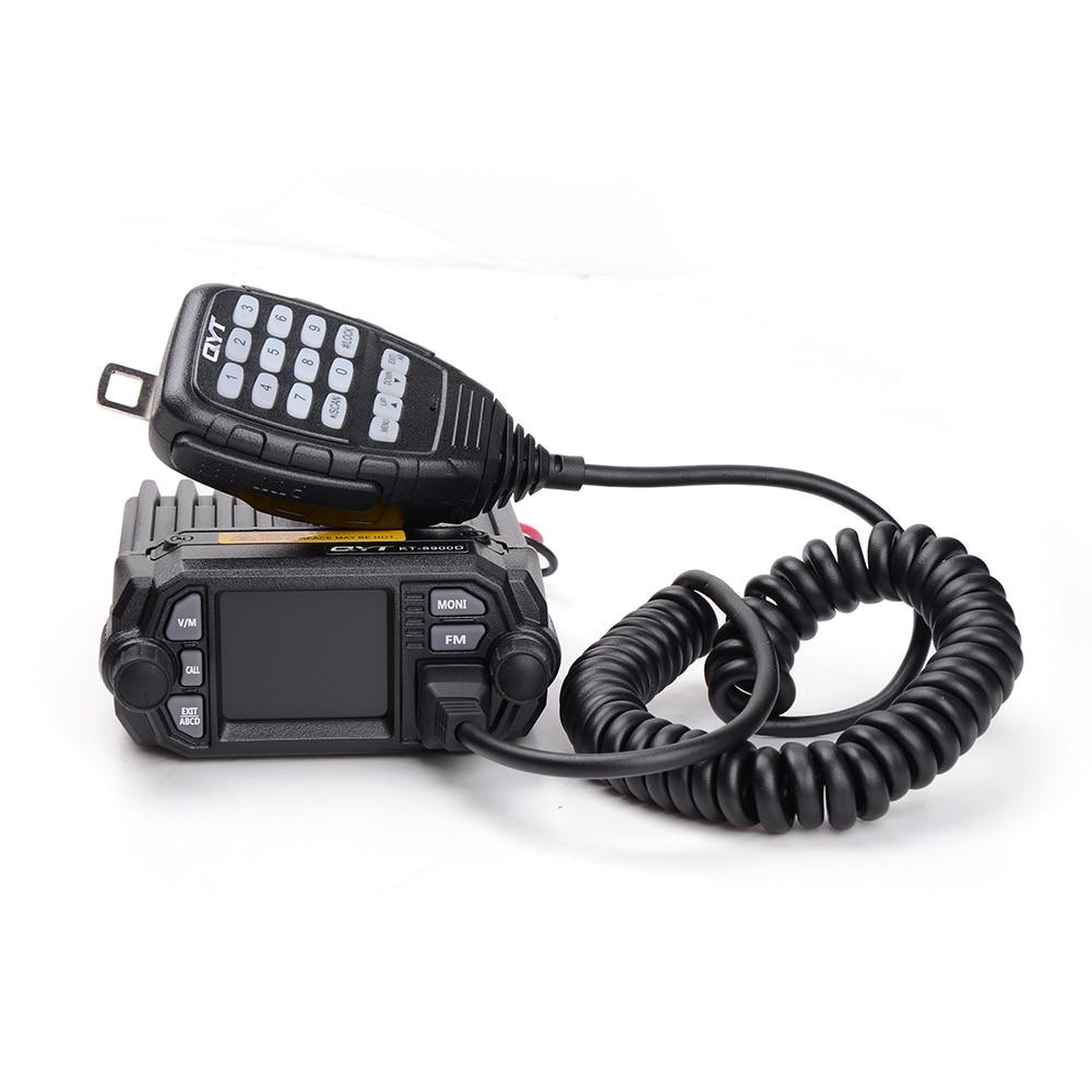 Image 2 - 100% Оригинальный QYT KT 8900D Walkie Talkie автомобильное радио 200 Каналы VHF/UHF FM Автомагнитола радиостанция рация-in Рация from Мобильные телефоны и телекоммуникации