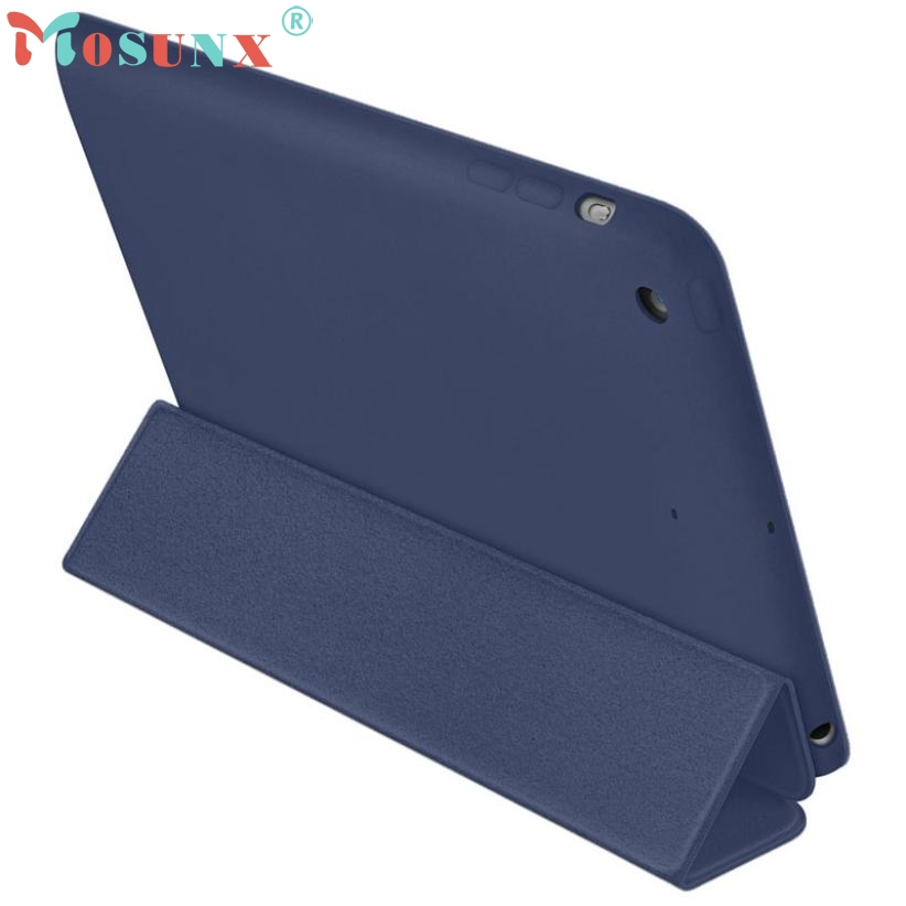 U Good Handle Pu Case for iPad mini 1 2 3 Retina Smart Case Slim Stand Leather Cover Skin Dark Blue N0224  цены