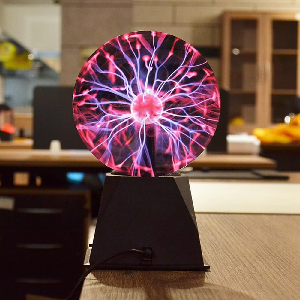 EU Novelty Glass Magic Plasma Ball Light 5 Inch Table Lights Sphere Nightlight Kids Gift For New Year Magic Plasma Night Lamp