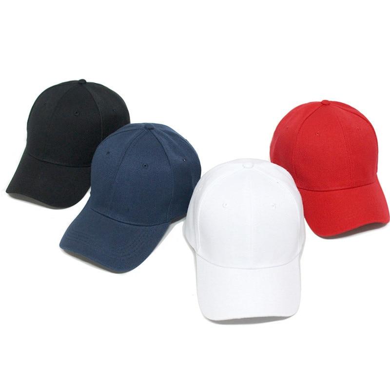 5aad2a8f168 2019 Snapback Baseball Cap Plain Canvas Dad Hat Hip Hop Men White ...