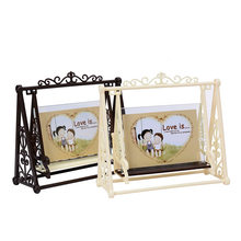 Creative Vintage LOVE Swing Couple frame Decorations 5 inch Retro plastic Craft Photo frame Home Ornaments Fashion Couple Gifts(China)