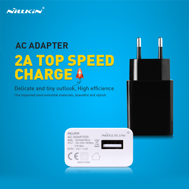1PCS Nillkin Charger 5V 2A Passed FCC CE USB Plug Power Wall Charger Safe And Fast charge For Samsung for xiaomi USB Charger