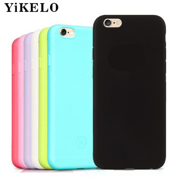 YiKELO Macarons Color TPU Silicone Frosted Matte Case for iPhone 6 6S 5 5S SE 8 Plus X Soft Back Cover for iPhone 7 7Plus Capa s iphone 6
