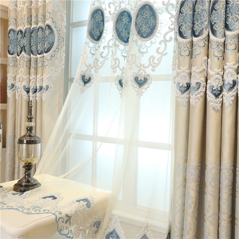 Europa na zamówienie luksusowe hafty Zasłony zaciemniające do - Tekstylia do domu - Zdjęcie 5