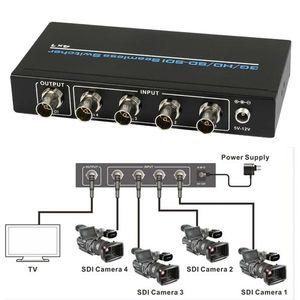 4 Port BNC SDI/HD-SDI/3G-SDI Seamless Switcher Scaling 4x1 Switch 1080P + IR Remote Control Lossless over long distances 100m(China)