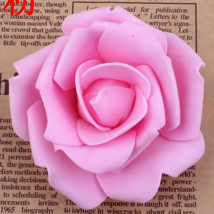 100 unids / lote 7 cm Espuma Artificial Rose Heads Real Touch DIY - Para fiestas y celebraciones - foto 6