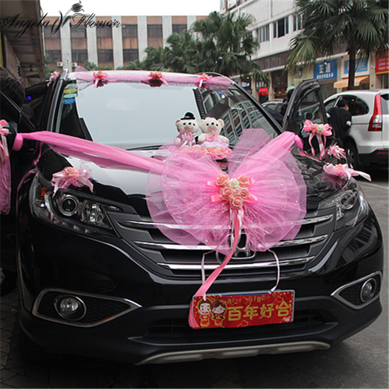 Buy wedding car decoration bear and get free shipping on aliexpress junglespirit Images