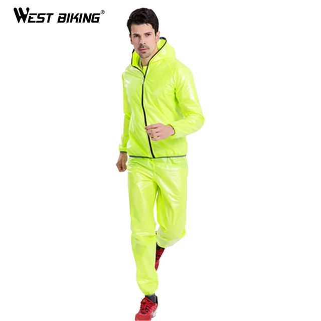 WEST BIKING Practical Cycling Raincoat Bicycle Jersey Windcoat Bike Clothing Running Sleeve Jacket Rainproof  Waterproof Clothes