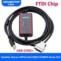 Geschikt Omron Plc-programmering Kabel USB-CIF02 + Downloaden Kabel CPM1A/2A/CQM1/C200HS PLC Datalijn
