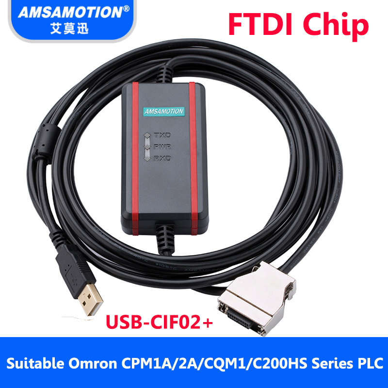 все цены на Suitable Omron PLC Programming Cable USB-CIF02+ Download Cable CPM1A/2A/CQM1/C200HS PLC Data Line онлайн