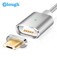 Elough E03 магнитное зарядное устройство Micro USB кабель для Xiaomi huawei Android мобильный телефон Быстрая зарядка магнит Microusb кабель для передачи данных провод