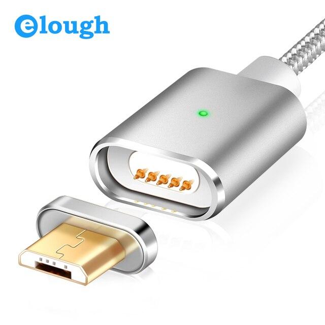 Elough E03 Magnetico Cavo del Caricatore Micro USB Per Xiaomi Huawei Android Del Telefono Mobile di Ricarica Veloce Magnete Microusb Cavo Dati Cavo 1