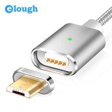 Cable Micro USB de carga magnética E03 de Elough para Xiaomi, Huawei y Android, Cable de datos con imán de carga rápida Microusb