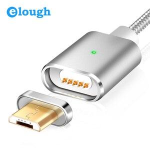 Image 1 - Cable Micro USB de carga magnética E03 de Elough para Xiaomi, Huawei y Android, Cable de datos con imán de carga rápida Microusb