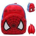Nova bonito dos desenhos animados crianças Spider-man mochila de pelúcia brinquedo mini saco de presentes das Crianças do menino da menina do bebê do jardim de infância estudante sacos