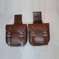 Universal PU Leather Motorcycle Saddle Bags Large Capacity Motorbike Bike Side Tool Bag Moto Luggage Saddlebags