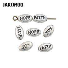 JAKONGO – perles antiques plaquées argent, 30 pièces, pour la fabrication de bracelets, accessoires de bijouterie, DIY