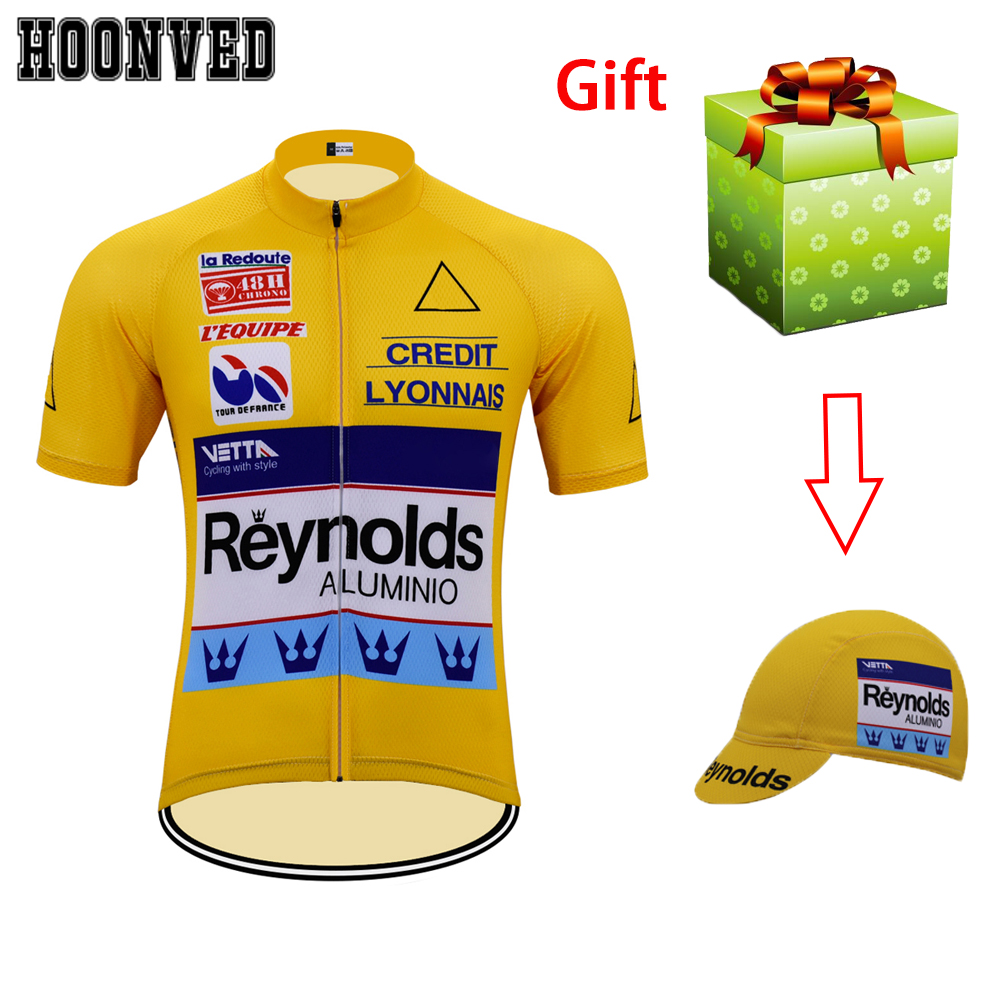 ROAD DREAMER 2019 Team Pro racing Man Retro yellow Reynolds Short Sleeves