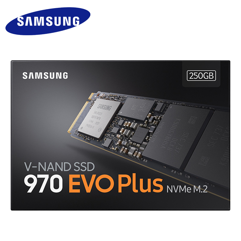 Samsung 970 EVO Plus SSD NVMe M.2 2280 SSD 250GB 500GB 1TB M.2 Internal Solid State Drive TLC SSD PCIe 3.0 X4, NVMe 1.3 Laptop