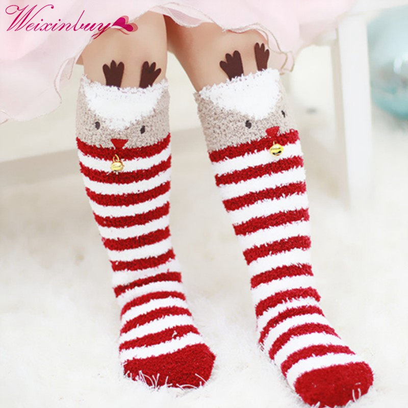 Winter Warm Baby Knee-High Xmas Christmas Socks Kids Soft Cotton Cute Santa Claus Deer Socks outdoor christmas decoration inflatable santa claus 20ft high 6m high factory direct sale bg a1188 toy