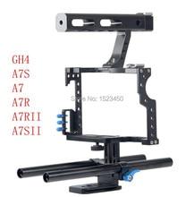 15 мм Rod Rig DSLR Камеры Кейдж Комплект Стабилизатор + Верхнюю Ручку ручка для sony a7 ii a7r a7s a6300 a6000 panasonic gh4 gh3
