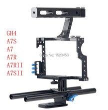 15mm Rod Rig DSLR Camera Video Cage Kit Stabilizer + Top Handle Grip for Sony A7 II A7r A7s A6300 A6000 Panasonic GH4 GH3