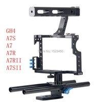15mm Rod Rig DSLR Kamera Video Käfig Kit Stabilisator + Top Griff grip für sony a7 ii a7r a7s a6300 a6000 panasonic gh4 gh3