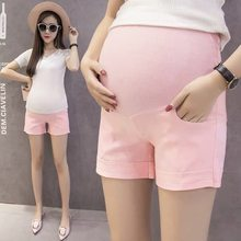 Maternity Pants for Pregnant Women Summer Pregnancy Clothes for Women Pregnant Trousers Gravida Shorts Belly Mother Nursing Wear(China)