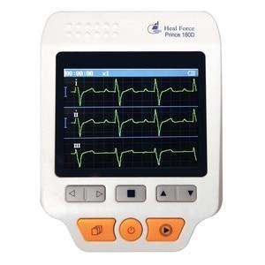 Image 1 - Пульсометр Heal Force Prince 180D, медицинский портативный электрокардиограф для измерения ЭКГ, ЭКГ, сердечного ритма, 3 канала, провод 25 шт.