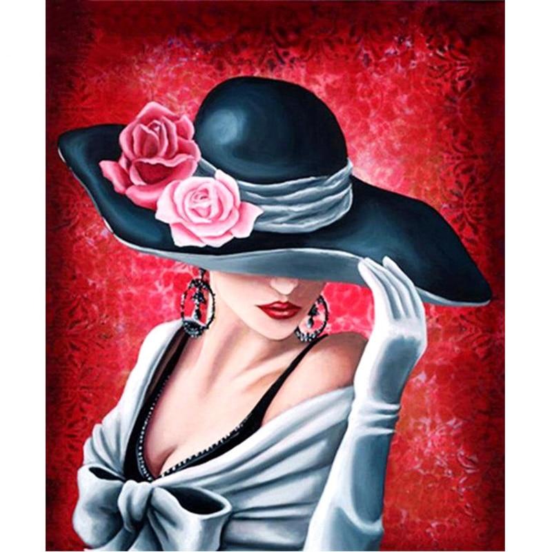 diamond Embroidery 5D DIY Diamond painting Mosaic cross stitch Hat women handmade home decoration painting