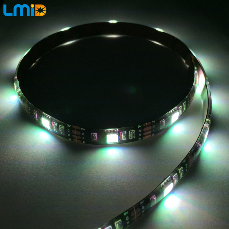 Lmid smd5050 rgb multi color usb bluetooth tv background led strip lmid smd5050 rgb multi color usb bluetooth tv background led strip lights kit pc wall mood light by android ios app control in led strips from lights aloadofball Images