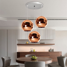 3X Bronze Glass Modern Pendant Lights Kitchen Island Lighting Bedroom Light Fixtures Home Bar Hotel Ceiling Lamp