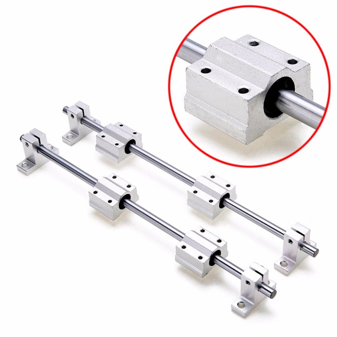 8mm 300mm lineal del eje ferroviario con SK8 SCS8UU guía cojinete de Motor para DIY CNC Routers Mills tornos Mayitr