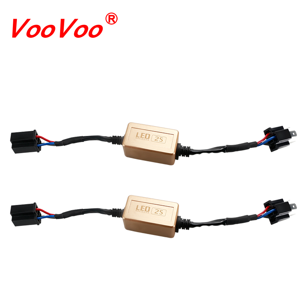 medium resolution of aliexpress com buy voovoo 2pcs canbus for car led headlight bulbs error warning canceller wire harness adapter h1 h3 h4 h11 h13 9004 9007 9005 9006 from