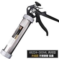 Hot selling glas lijm lijm lijmpistool pistool 300 ml druk tool rvs pijp aluminium cover bouw tool 66224