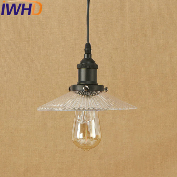 IWHD Vintage Lamp LED Pendant Lamp Loft Industrial Retro Hanging Lights Umbrella Suspension Luminaire Indoor Lighting Fixtures iwhd gold iron style loft industrial vintage pendant lights retro birdcage hanging lamp kitchen dining room luminaire suspendu