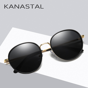 Image 3 - Fashion Round Polarized Sunglasses Women Vintage Elegant Driving Eyewear Metal Frame Female Oculos De Sol UV400