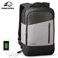 Подходит для нового Для мужчин рюкзак W/телефон присоски и USB заряжать ноутбук рюкзак 15.6 дюймов Для женщин школьные сумки для подростков для ...