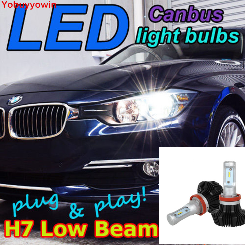 Pair Super bright Canbus CAR LED Headlight Kits H7 PX26D headlight For BMW F30 3-Series Bulb Kit, H7 Low Beam 6500K HID White
