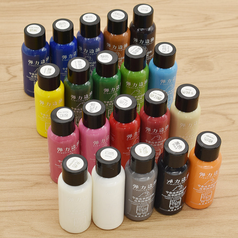 30ml Leather Paint Set DIY Crafts Leather Edge Paint Edge Oil Dye Highlights Professional Paint Liquid Art Supplies