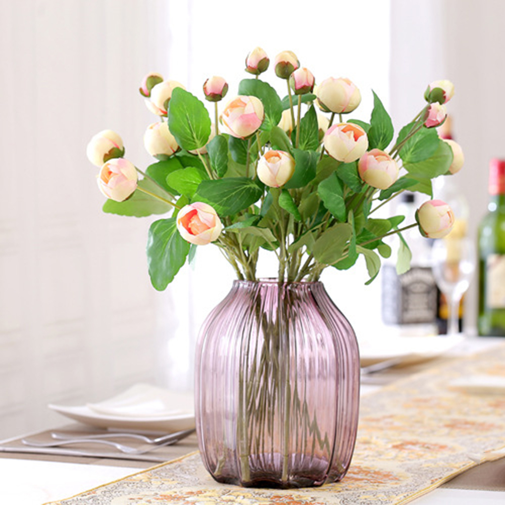 2017 Simple And Fresh Artificial Silk Flowers Peony Bud 3 Heads