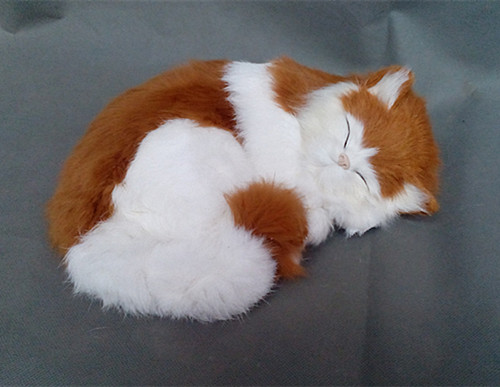 simulation cute sleeping cat 25x21cm model polyethylene&furs cat model home decoration props ,model gift d419 simulation cute squatting white cat 35x15cm model polyethylene
